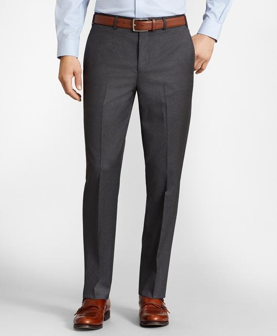 BrooksFlex™ Regent-Fit Wool Trousers, Unfinished Hem Grey