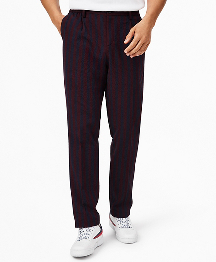 Brooks Brothers x FILA Striped Seersucker Newport Trousers