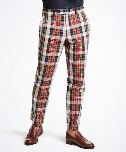 Regent Fit Madras Trousers