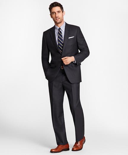 Madison Fit Saxxon™ Wool Navy Tic 1818 Suit
