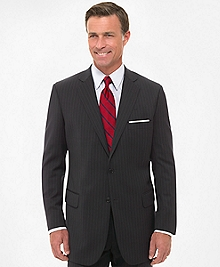 Two-Button Suiting Essential Stripe Jacket