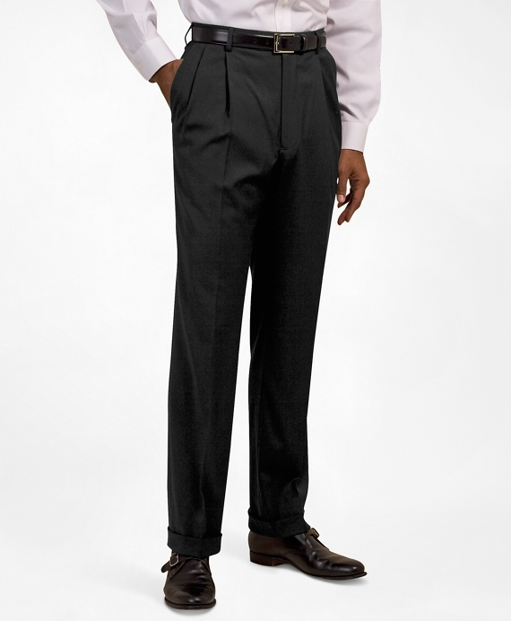 Pleat-Front Suiting Essential Trousers Black