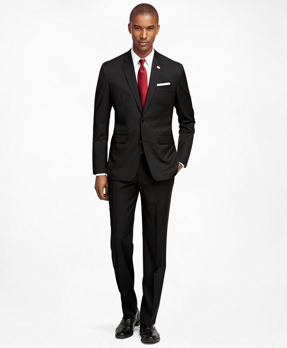 Milano Fit Solid 1818 Suit Black