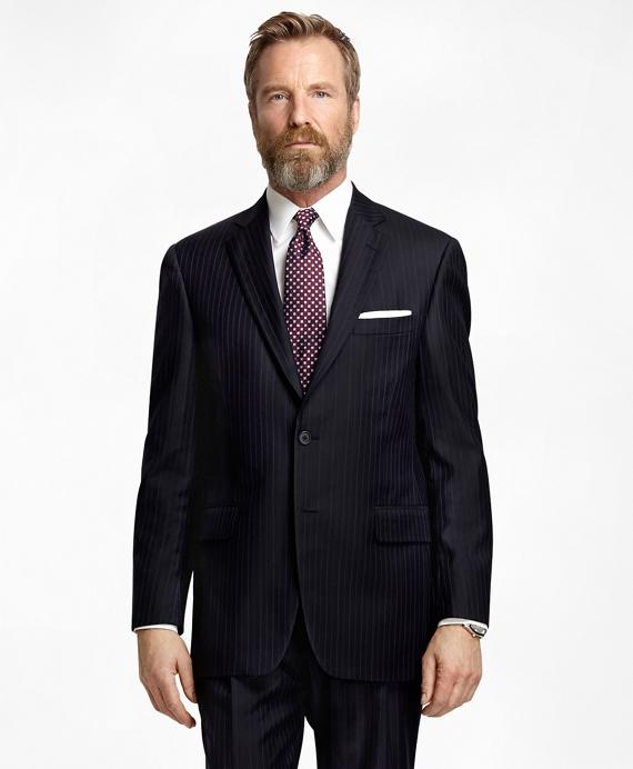Madison Fit Bold Alternating Stripe 1818 Suit Navy