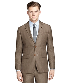 Milano Fit Tan Houndstooth Suit