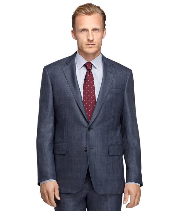 Madison Fit Golden Fleece® Saxxon™ Wool Plaid Suit Blue