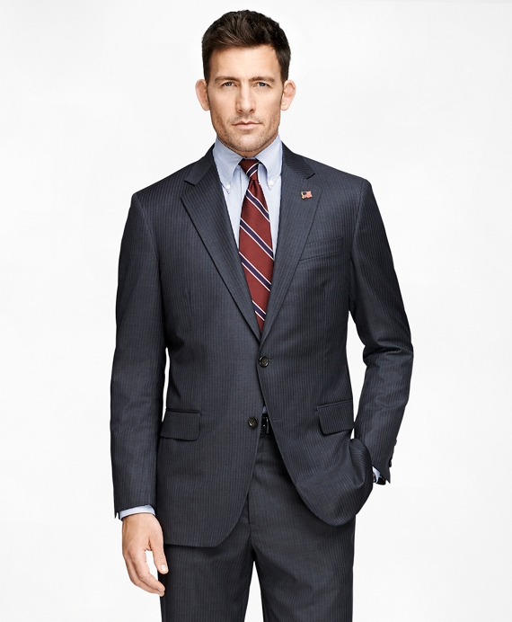 Madison Fit Saxxon™ Grey with Blue Stripe 1818 Suit Grey