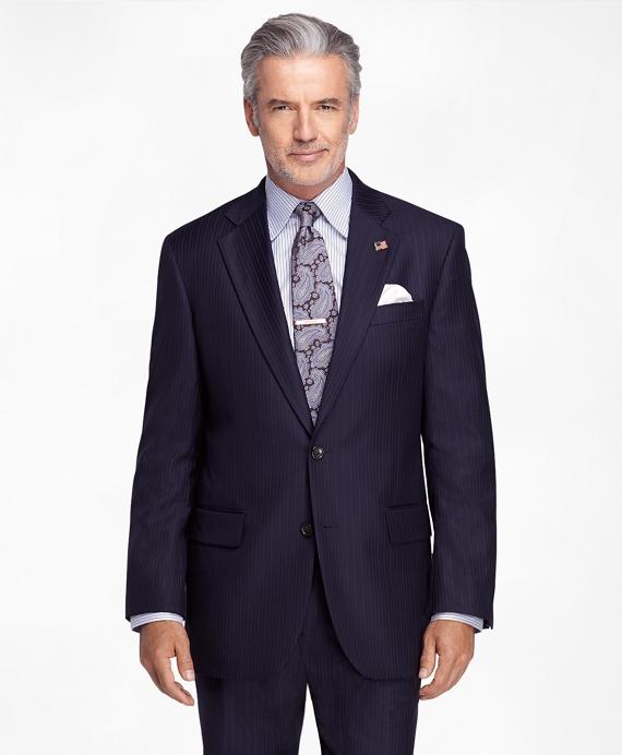 Madison Fit Saxxon™ Alternating Stripe 1818 Suit Navy