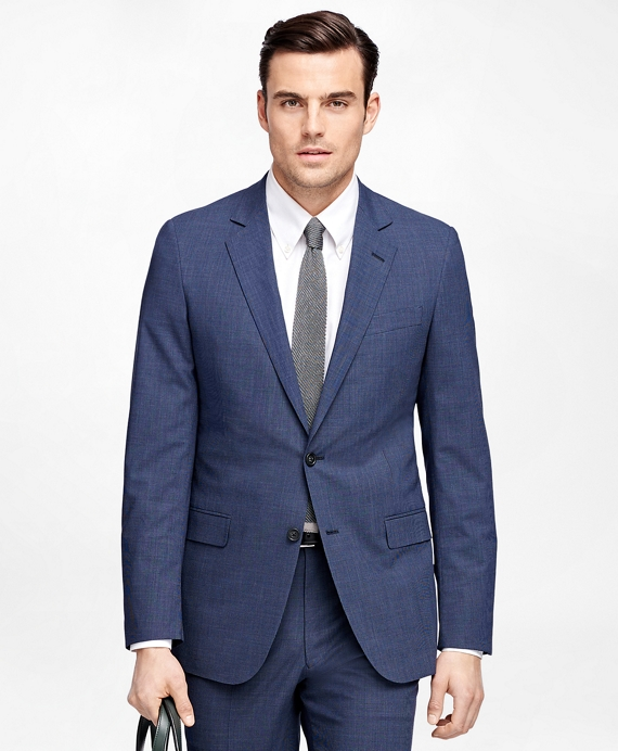 Fitzgerald Fit BrooksCool® Check Suit Blue
