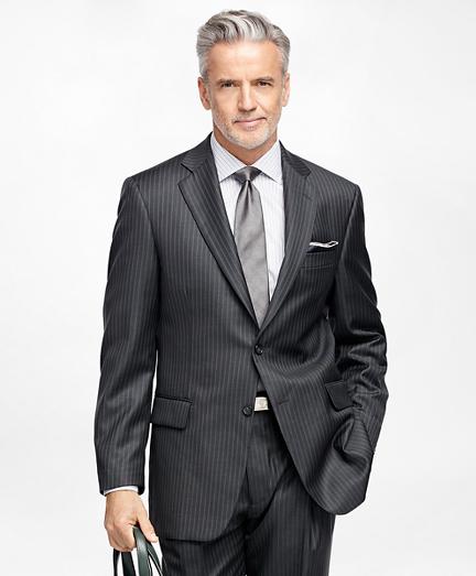 Madison Fit Saxxon Wool Double Stripe 1818 Suit