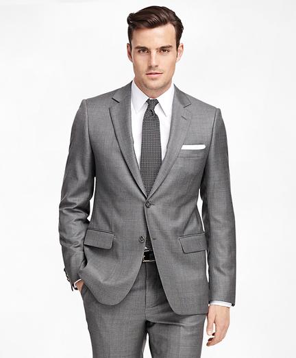 Fitzgerald Fit Saxxon Wool Sharkskin 1818 Suit