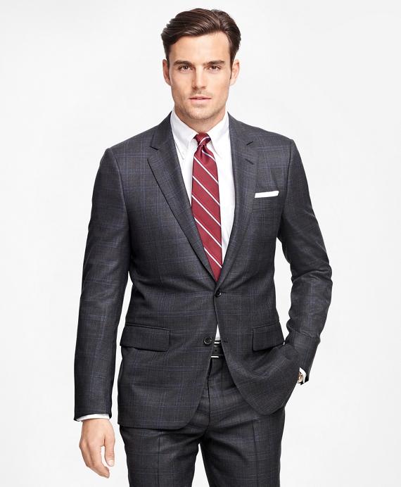 Fitzgerald Fit Golden Fleece® Plaid Suit Grey
