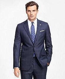 Fitzgerald Fit Saxxon Wool Blue Plaid 1818 Suit