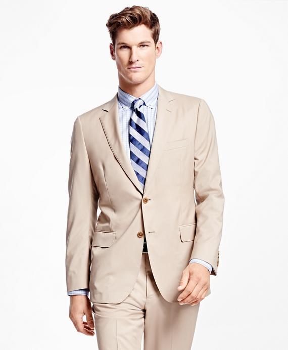 Fitzgerald Fit Wool Poplin Suit Tan
