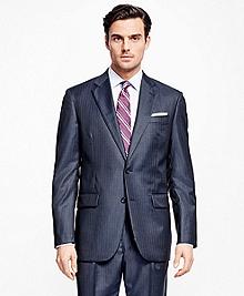 Madison Fit Saxxon Wool Alternating Stripe 1818 Suit