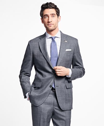 Madison Fit Saxxon Wool Plaid 1818 Suit