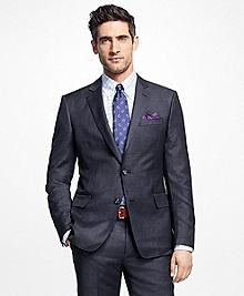 Regent Fit Textured Stripe 1818 Suit