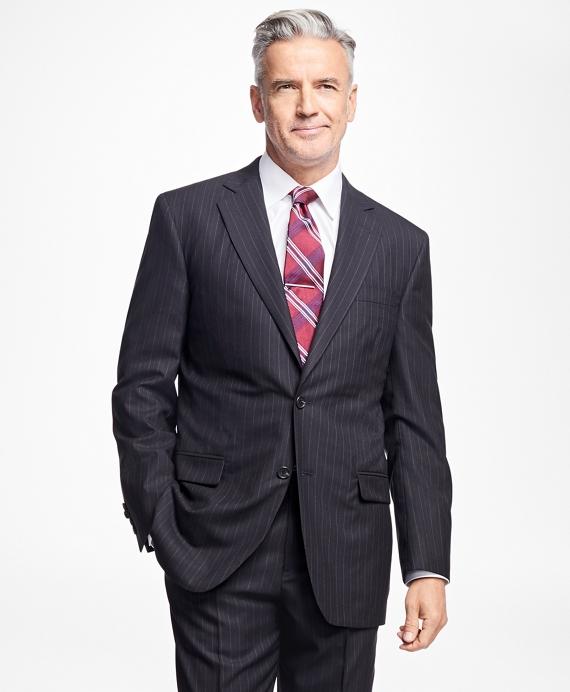 Golden Fleece® Madison Fit Alternating Stripe Suit Navy