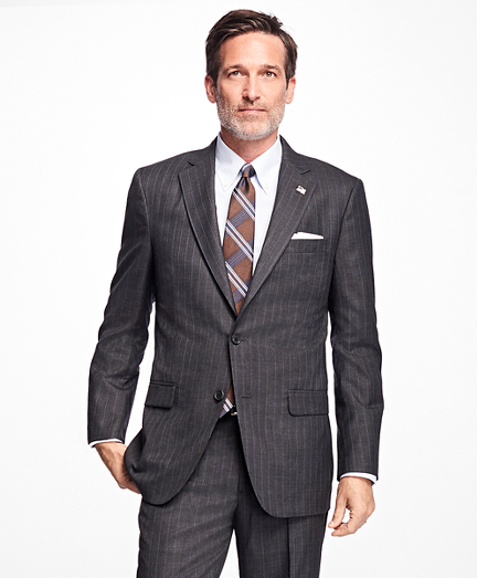 Brooks Brothers Golden Fleece Madison Fit Stripe Suit