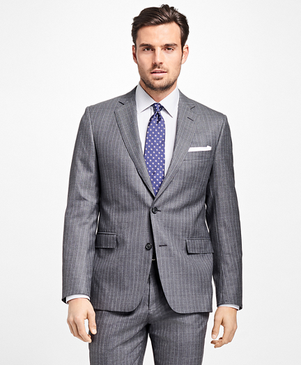 Regent Fit Textured Alternating Stripe 1818 Suit