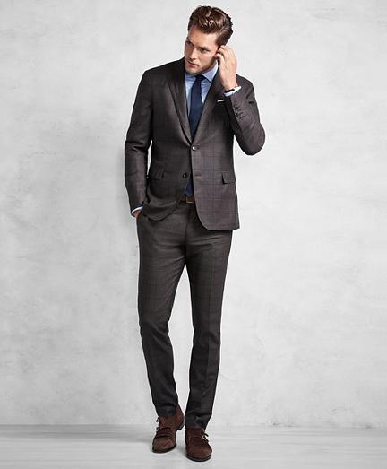 Golden Fleece® Brown Windowpane Suit