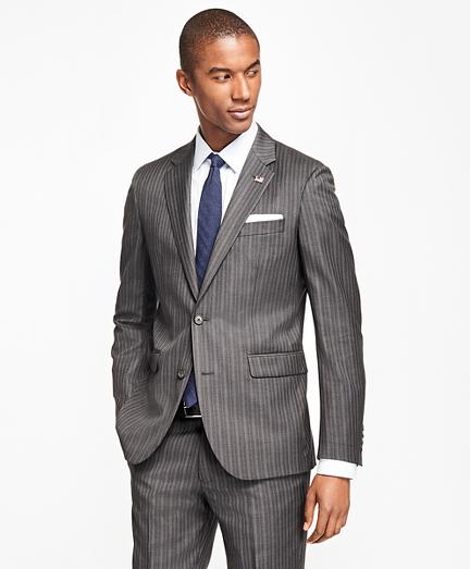 Milano Fit Saxxon™ Wool Multi-Stripe 1818 Suit