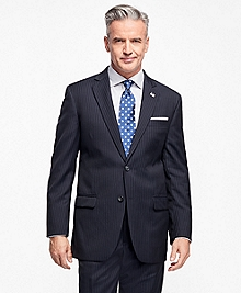 Madison Fit Saxxon Wool Narrow Double Pinstripe 1818 Suit