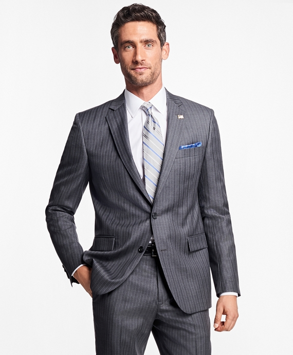 Regent Fit Bead Stripe 1818 Suit Grey