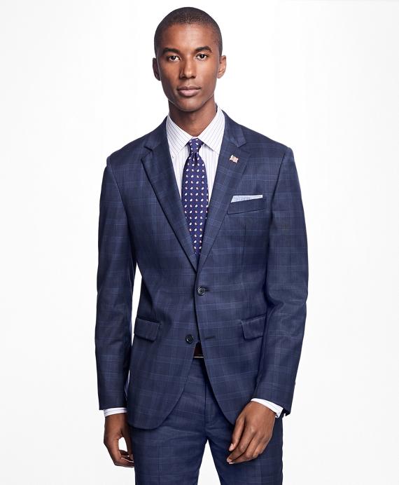 Milano Fit Plaid Suit Navy