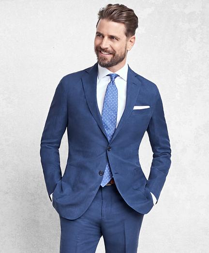 Golden Fleece® BrooksCloud™ Blue Silk and Linen Twill Suit
