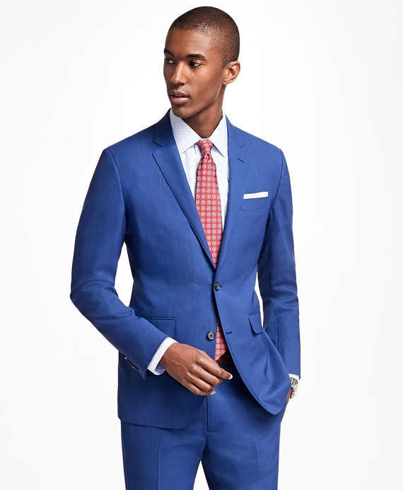 Milano Fit BrooksCool® Bright Blue Suit Blue