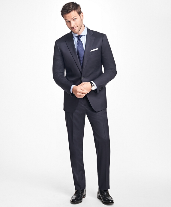 Regent Fit Stretch Wool Two-Button 1818 Suit Navy