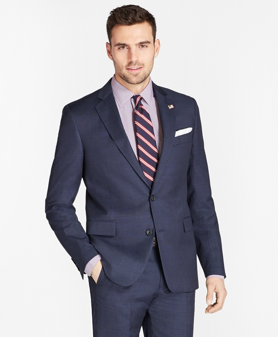 Regent Fit Tic with Stripe 1818 Suit Blue