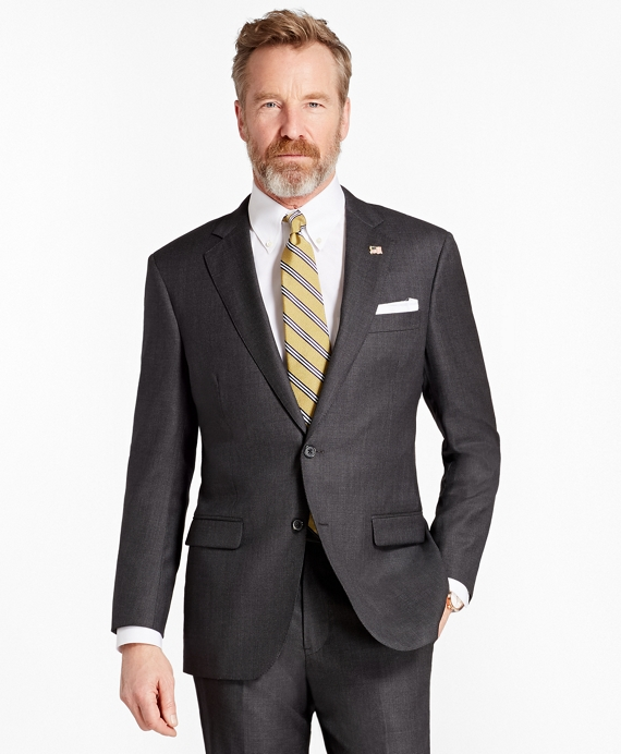 Madison Fit Saxxon™ Wool Neat 1818 Suit Dark Grey