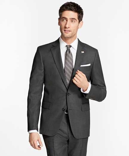 Regent Fit Saxxon™ Wool Slim Stripe 1818 Suit