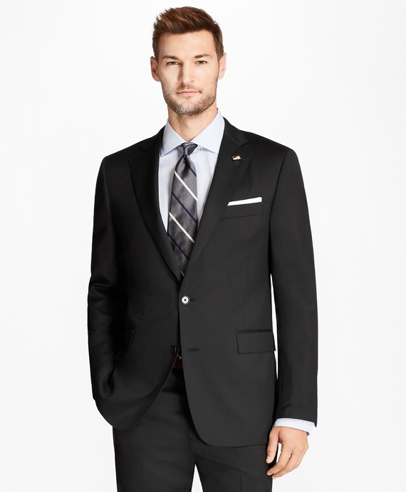 Regent Fit Shadow Stripe 1818 Suit Black