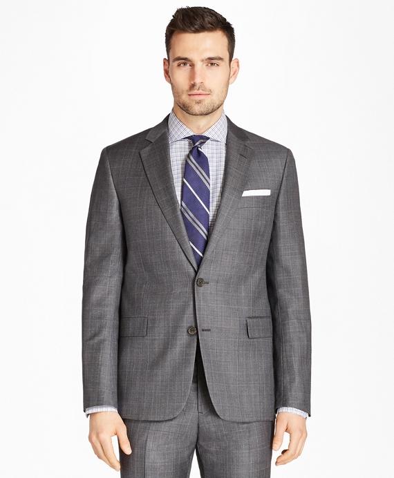 Regent Fit Plaid 1818 Suit Grey