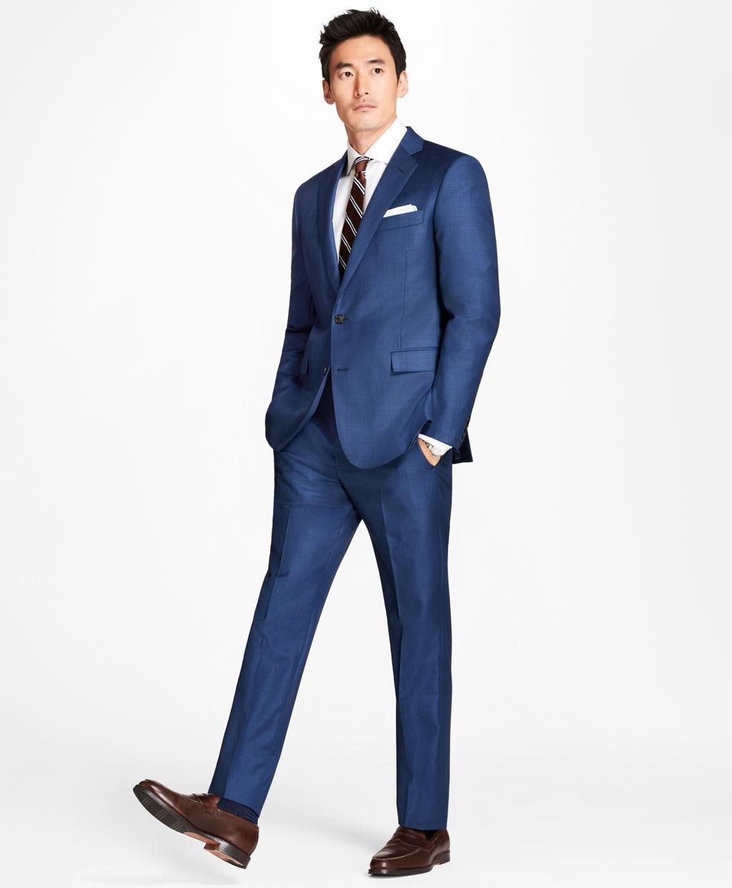 61765c4127e09c Regent Fit Sharkskin 1818 Suit - Brooks Brothers