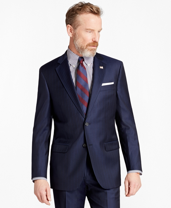 Madison Fit Multi-Stripe 1818 Suit Navy