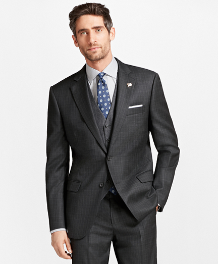Madison Fit Saxxon Wool Multi-Windowpane 1818 Suit