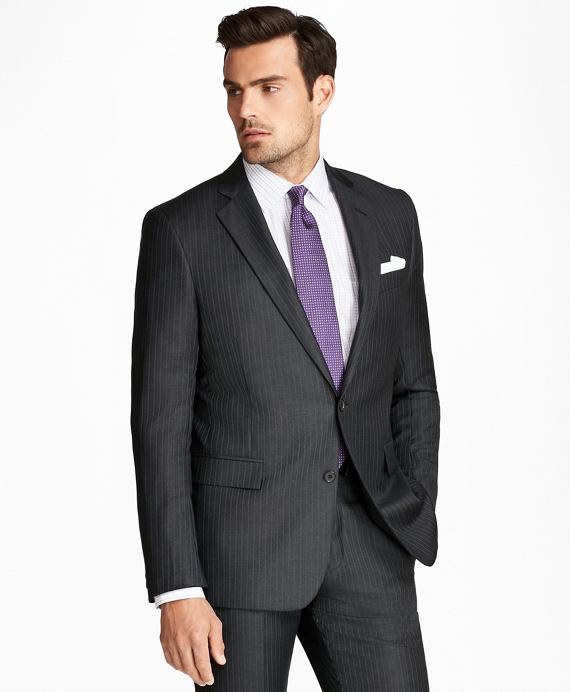 Regent Fit Multi-Stripe 1818 Suit Charcoal