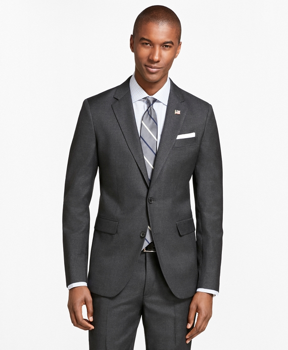 Milano Fit Screen Weave 1818 Suit Charcoal