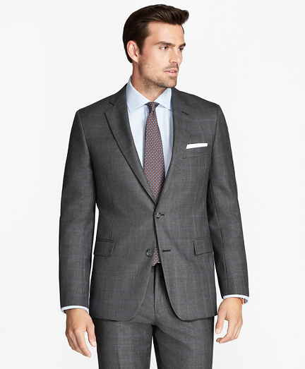 Regent Fit Open Plaid 1818 Suit