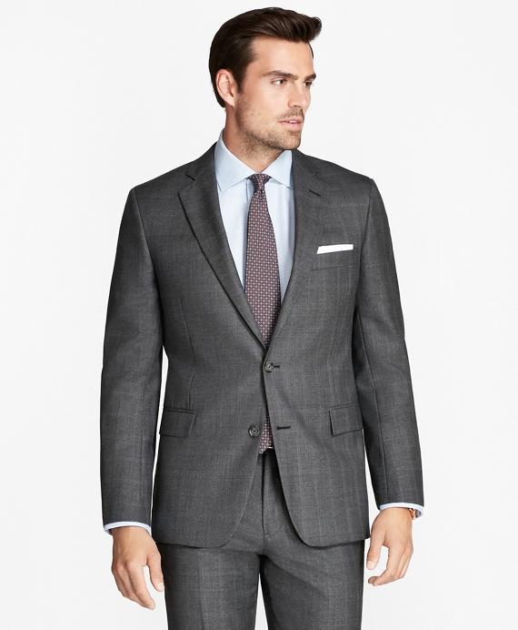 Regent Fit Open Plaid 1818 Suit Grey