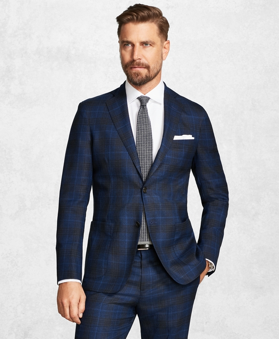 Golden Fleece® BrooksCloud™ Blue Plaid Suit Blue