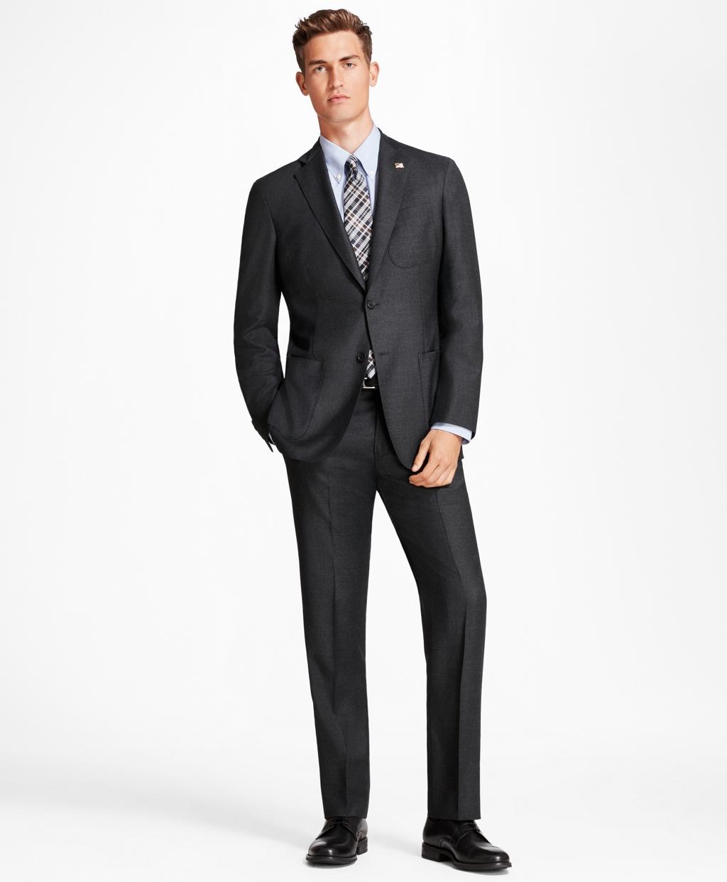 cc58eca0e6 Regent Fit BrooksCloud™ Neat 1818 Suit - Brooks Brothers