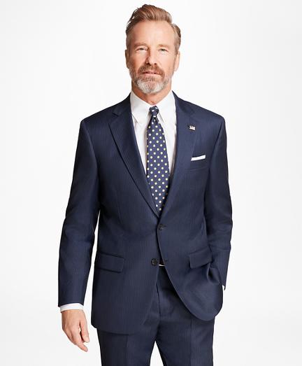 Madison Fit Saxxon™ Wool Alternating Stripe 1818 Suit
