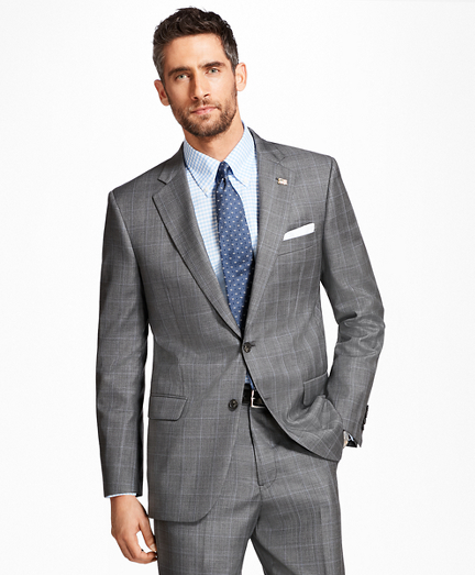 Madison Fit Saxxon™ Wool Plaid with Deco 1818 Suit