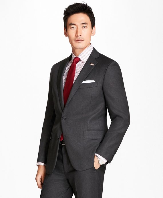 Regent Fit Screen Weave 1818 Suit Charcoal