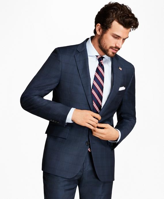 Regent Fit Plaid with Deco 1818 Suit Blue